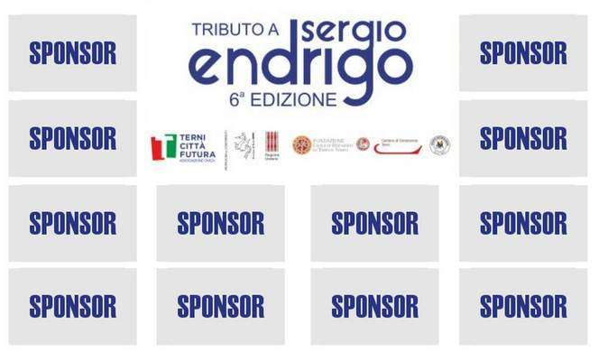 Sponsor - Banner Concerto - 6x4 mt- Tributo Sergio Endrigo - Città di Terni
