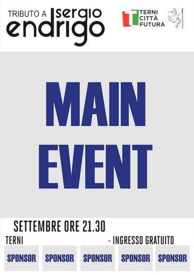 Sponsor - Locandine - Tributo Sergio Endrigo - Città di Terni