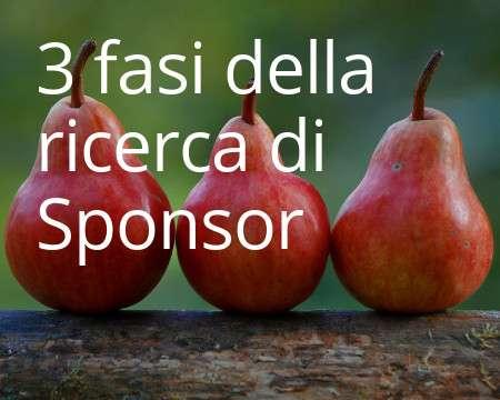 3 fasi della ricerca di sponsor