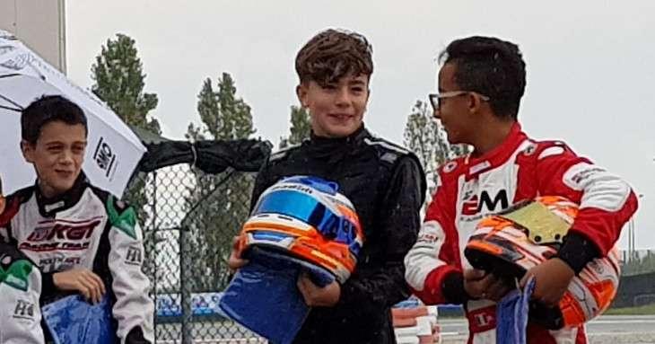 Davide Marconato pilota di go-kart prima della gara