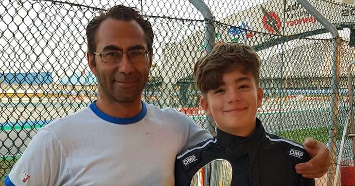 Davide Marconato pilota di go-kart