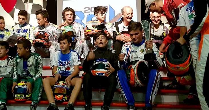 Davide Marconato pilota di go-kart in posa al Rok 2019
