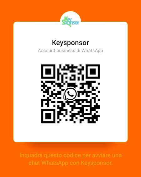 Assistenza - KeySponsor QR WhatsApp